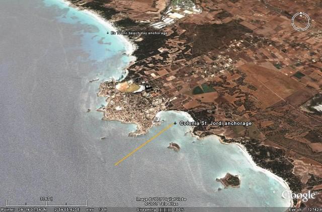 Colonia Sant Jordi Spain  City new picture : Cruising Notes Colonia St. Jordi, The Balearic Islands